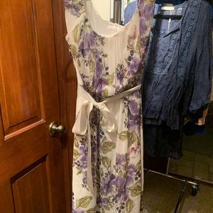 NorthStyle SIZE 4 Purple and Green Floral Dress